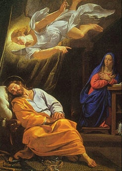 Philippe de Champaigne's The Dream of Saint Joseph painted around 1636
